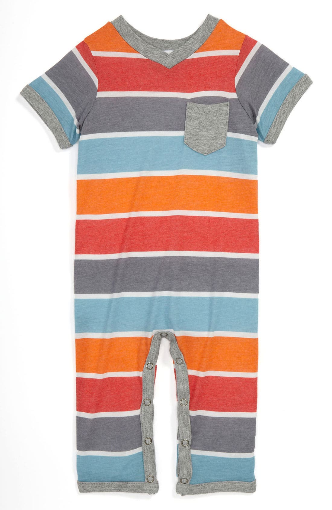 Main Image - Splendid Short Sleeve Romper (Infant)
