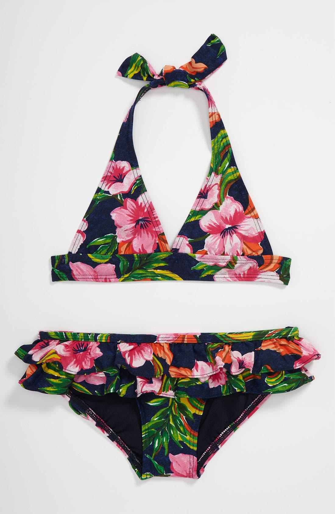 Main Image - Juicy Couture Two Piece Bikini Swimsuit (Little Girls)