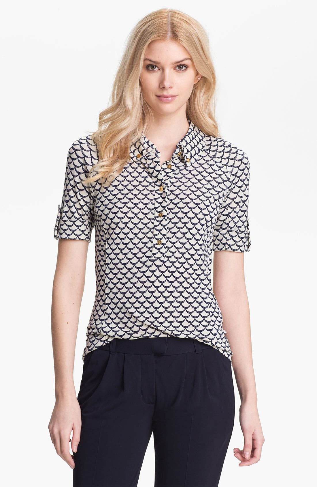 Main Image - Tory Burch 'Kyra' Print Polo
