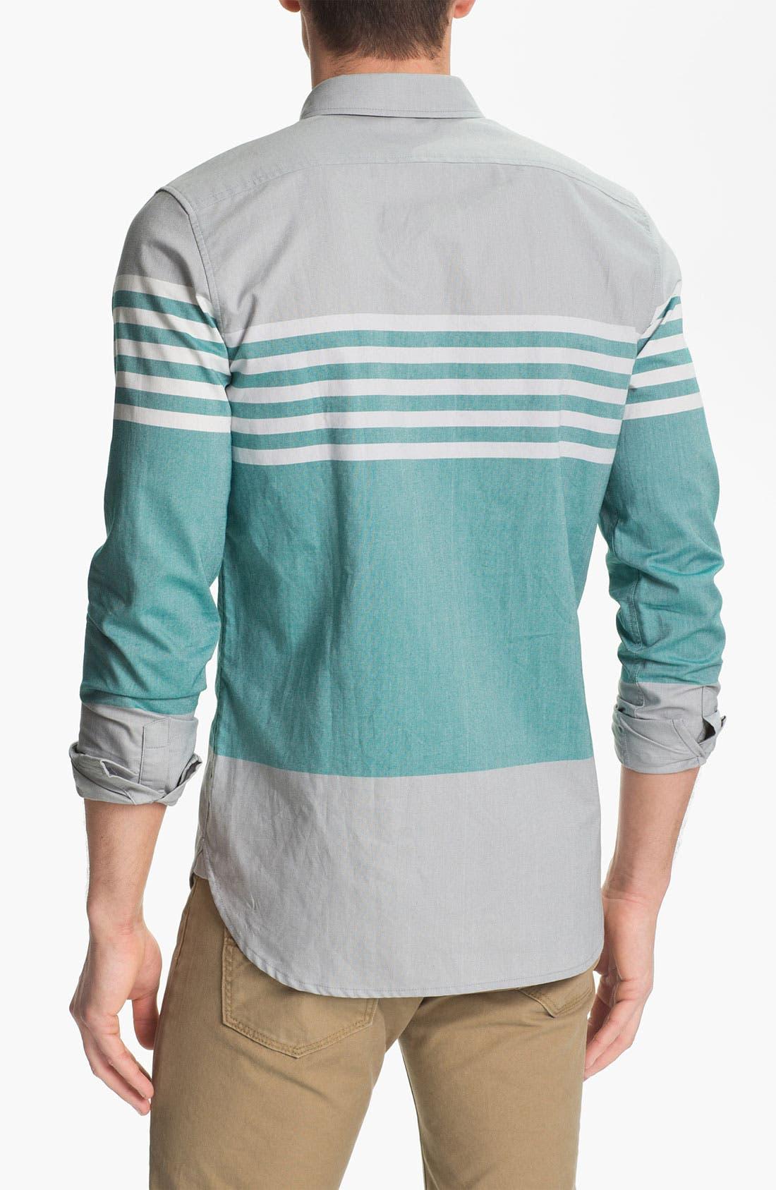 Alternate Image 2  - Edun Colorblock Stripe Woven Shirt