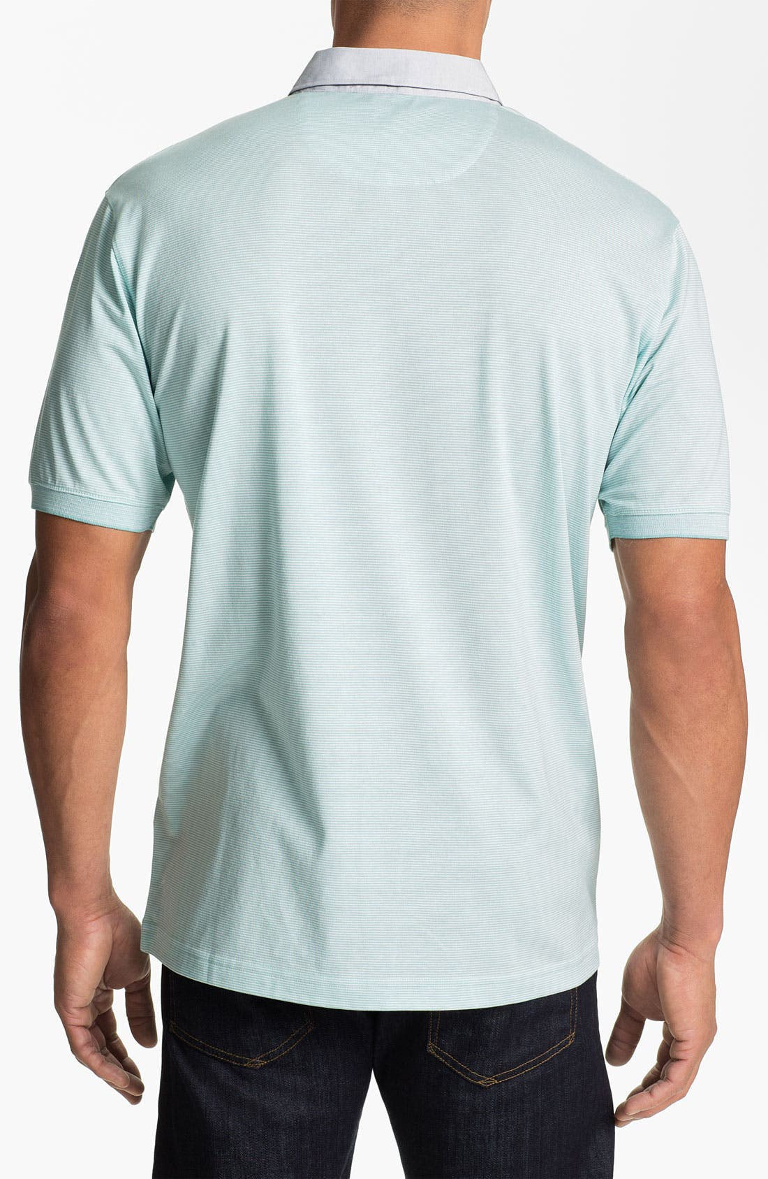 Alternate Image 2  - Cutter & Buck 'Midvale' Pima Cotton Polo (Big & Tall)