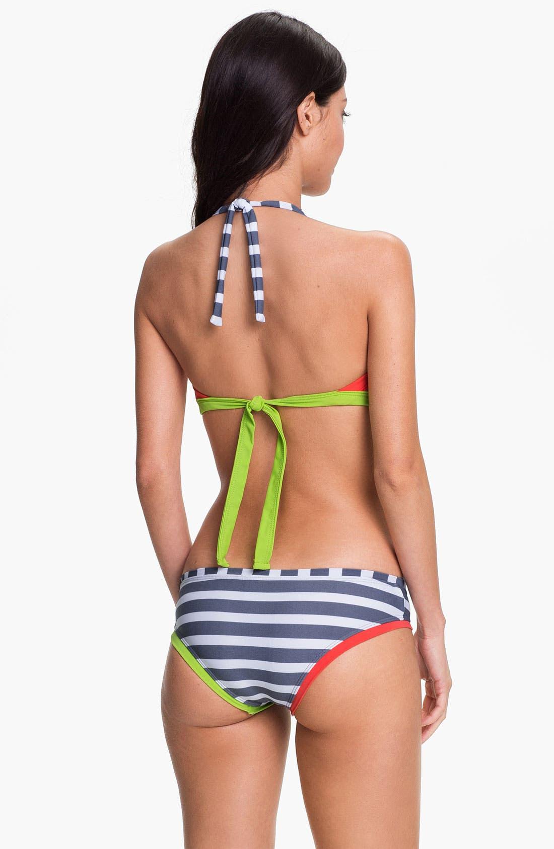 Alternate Image 5  - BCA 'Rugby' Bandeau Bikini Top
