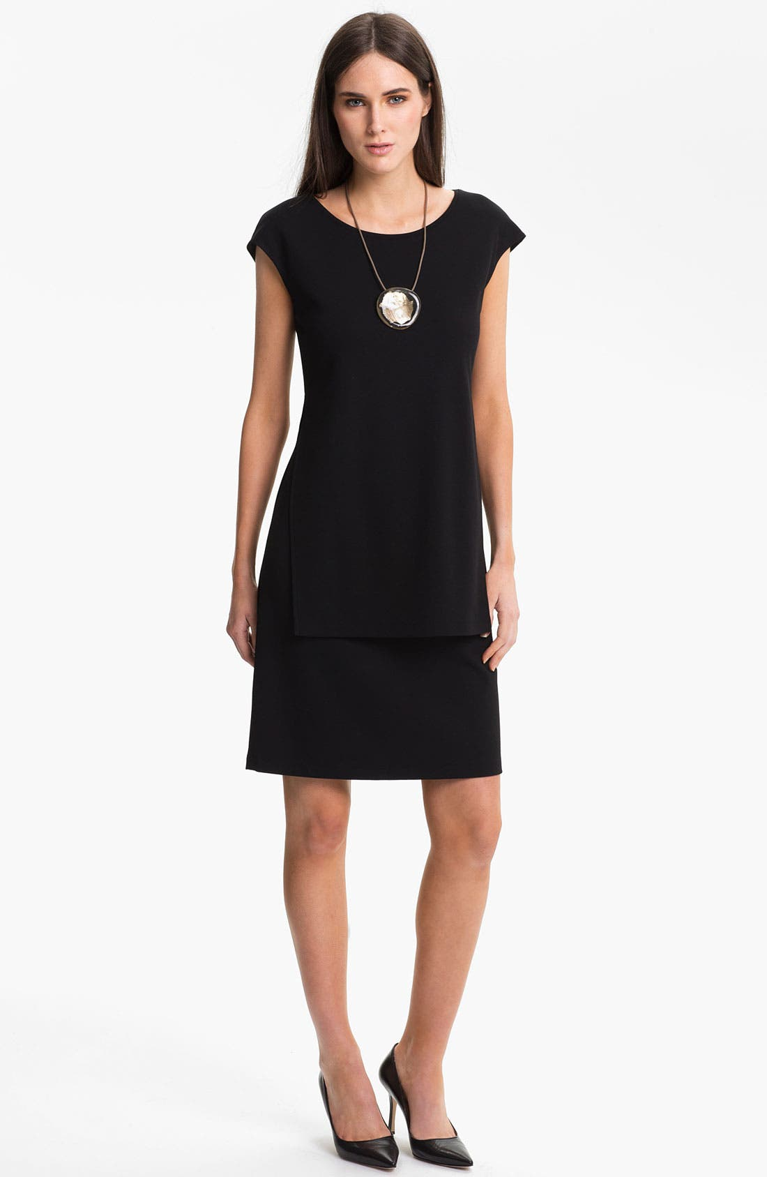 Alternate Image 1  - Lafayette 148 New York  Layered Punto Milano Dress