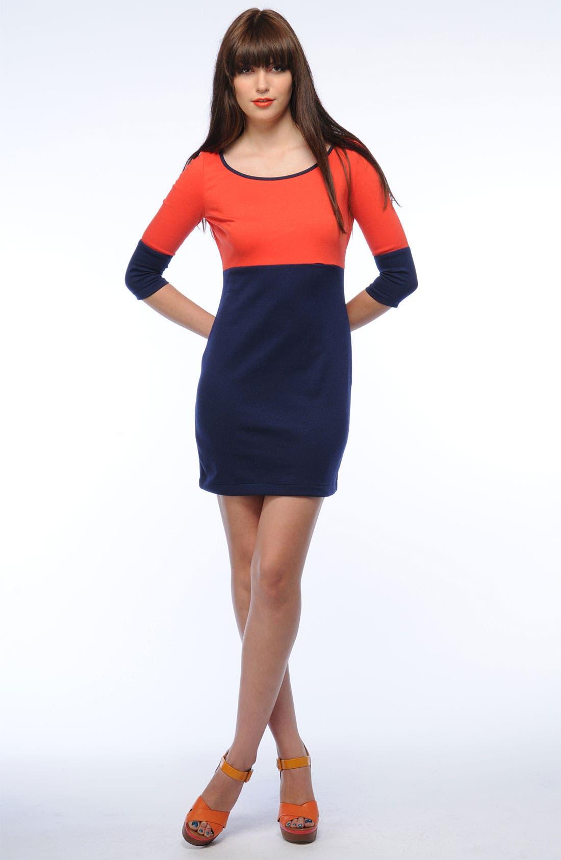 Alternate Image 2  - BB Dakota Colorblock Knit Dress