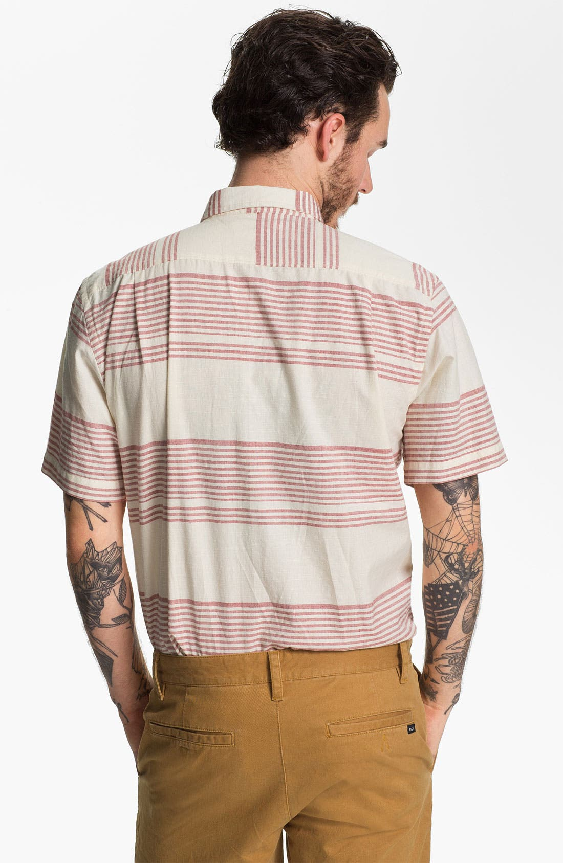Alternate Image 2  - Ezekiel 'Jed' Stripe Short Sleeve Woven Shirt