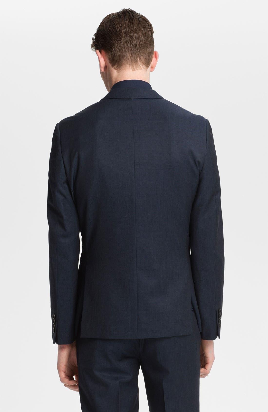 Alternate Image 2  - Topman 'Bogart' Skinny One Button Blazer