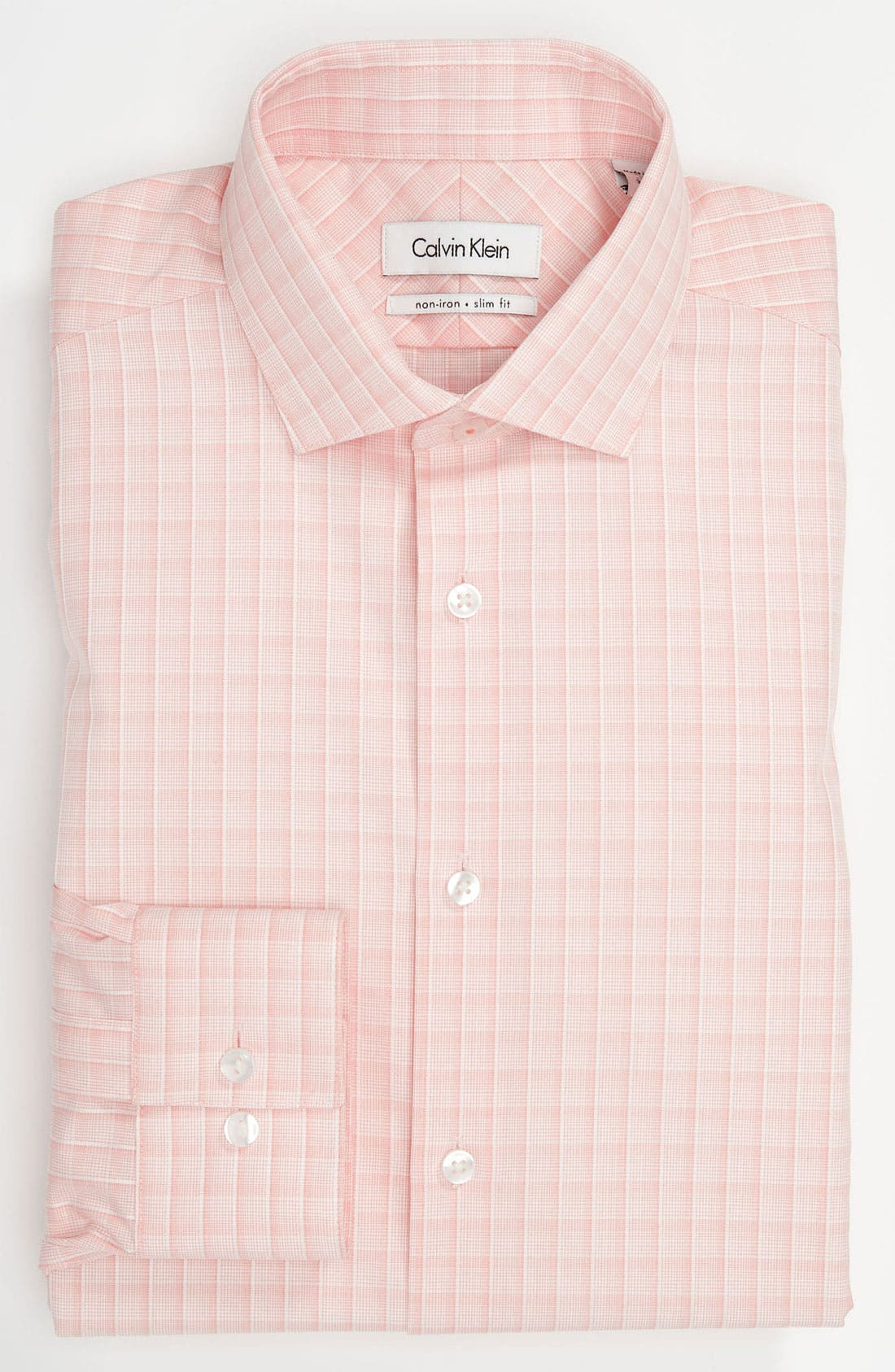 Alternate Image 1 Selected - Calvin Klein 'Montecarlo Check' Slim Fit Dress Shirt