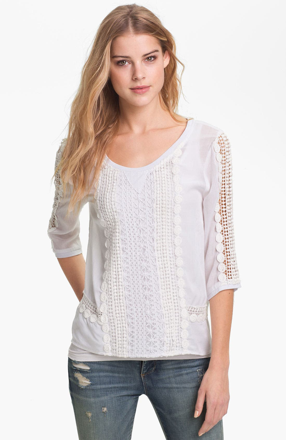 Alternate Image 1 Selected - KUT from the Kloth 'Bailey' Lace Top
