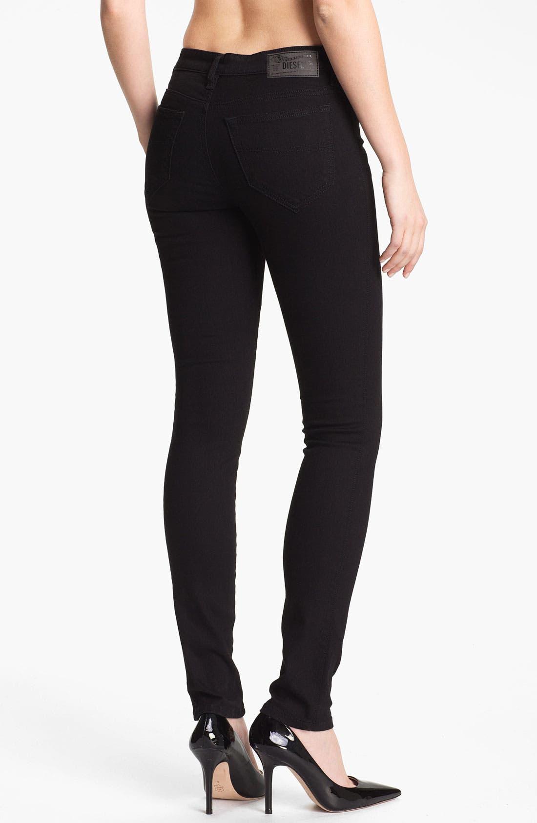 Alternate Image 2  - DIESEL® 'Skinzee' Stretch Skinny Jeans (Black)