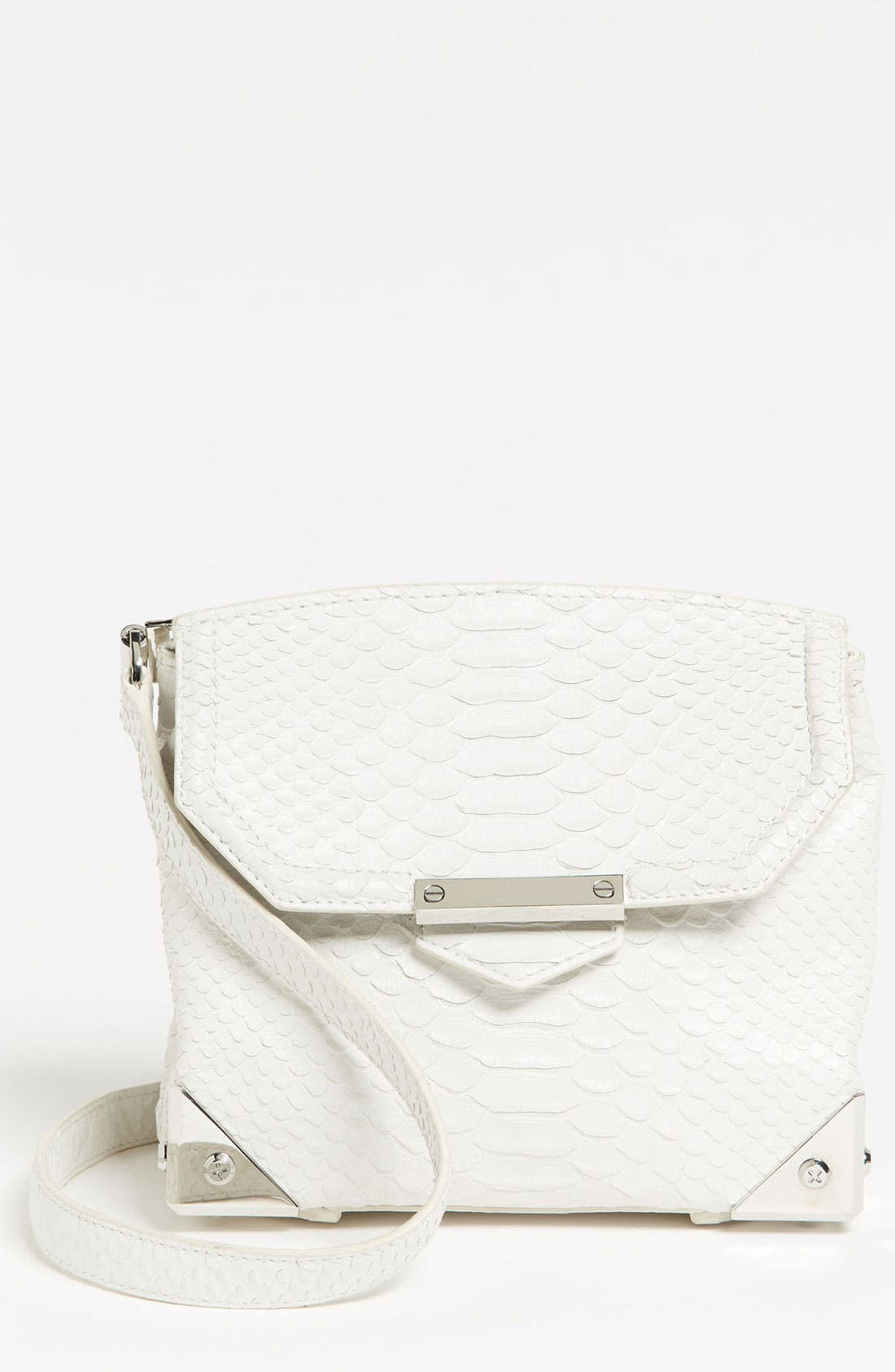 Alternate Image 1 Selected - Alexander Wang 'Marion - Prisma' Python Embossed Leather Crossbody Bag
