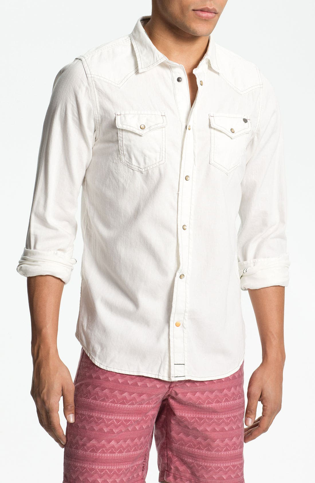 Alternate Image 1 Selected - DIESEL® 'Sonora' White Denim Western Shirt