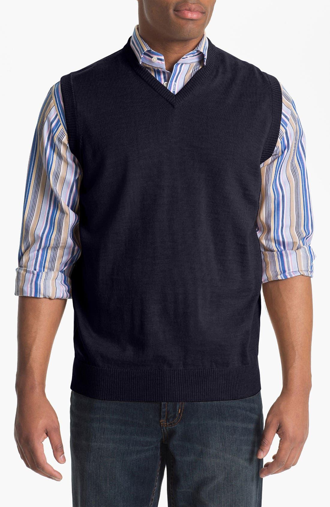 Alternate Image 1 Selected - Thomas Dean 'Baruffa' Merino Wool Sweater Vest