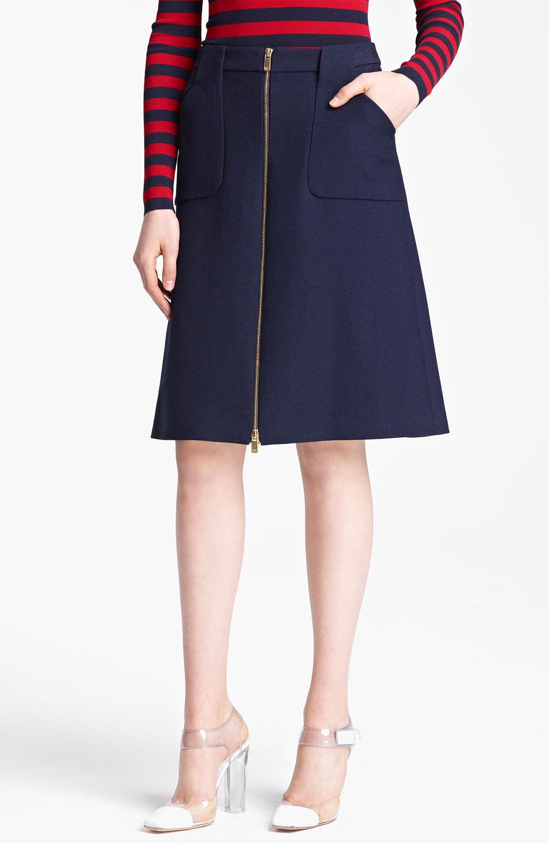 Alternate Image 1 Selected - Michael Kors Gabardine Skirt