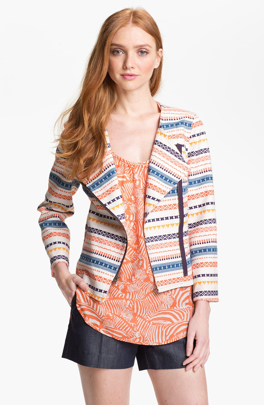 Alternate Image 1 Selected - Trina Turk 'Beatrix' Woven Jacket
