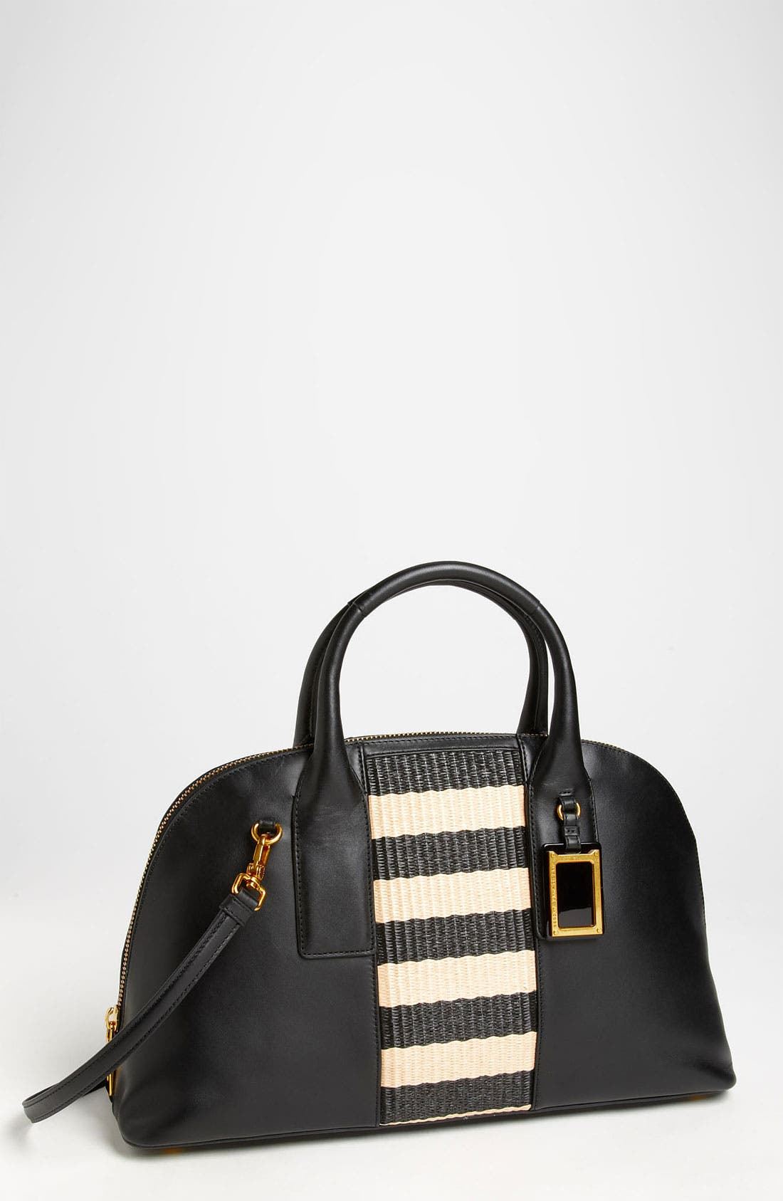 Main Image - MARC BY MARC JACOBS 'Show Off - Stripey Straw' Satchel