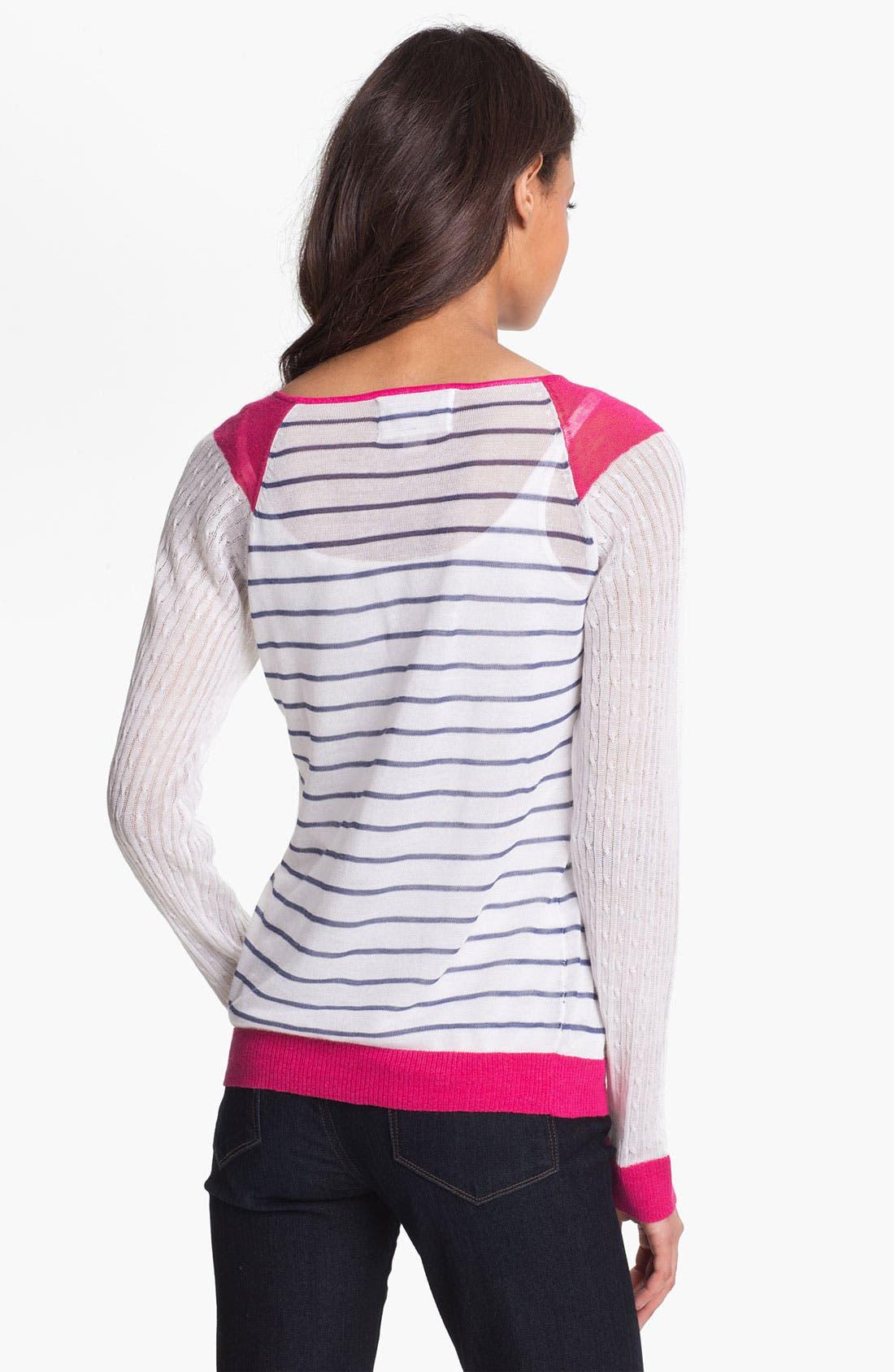 Alternate Image 2  - Shirt 469 Colorblock Stripe Sweater (Petite)