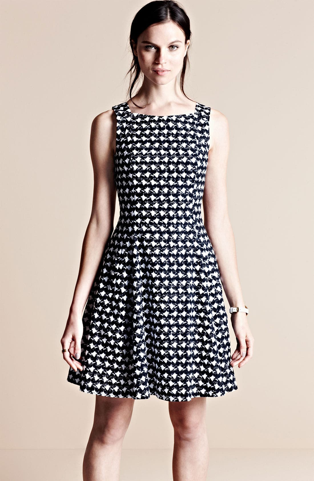 Alternate Image 4  - Theory 'Elexis' Cotton Fit & Flare Dress