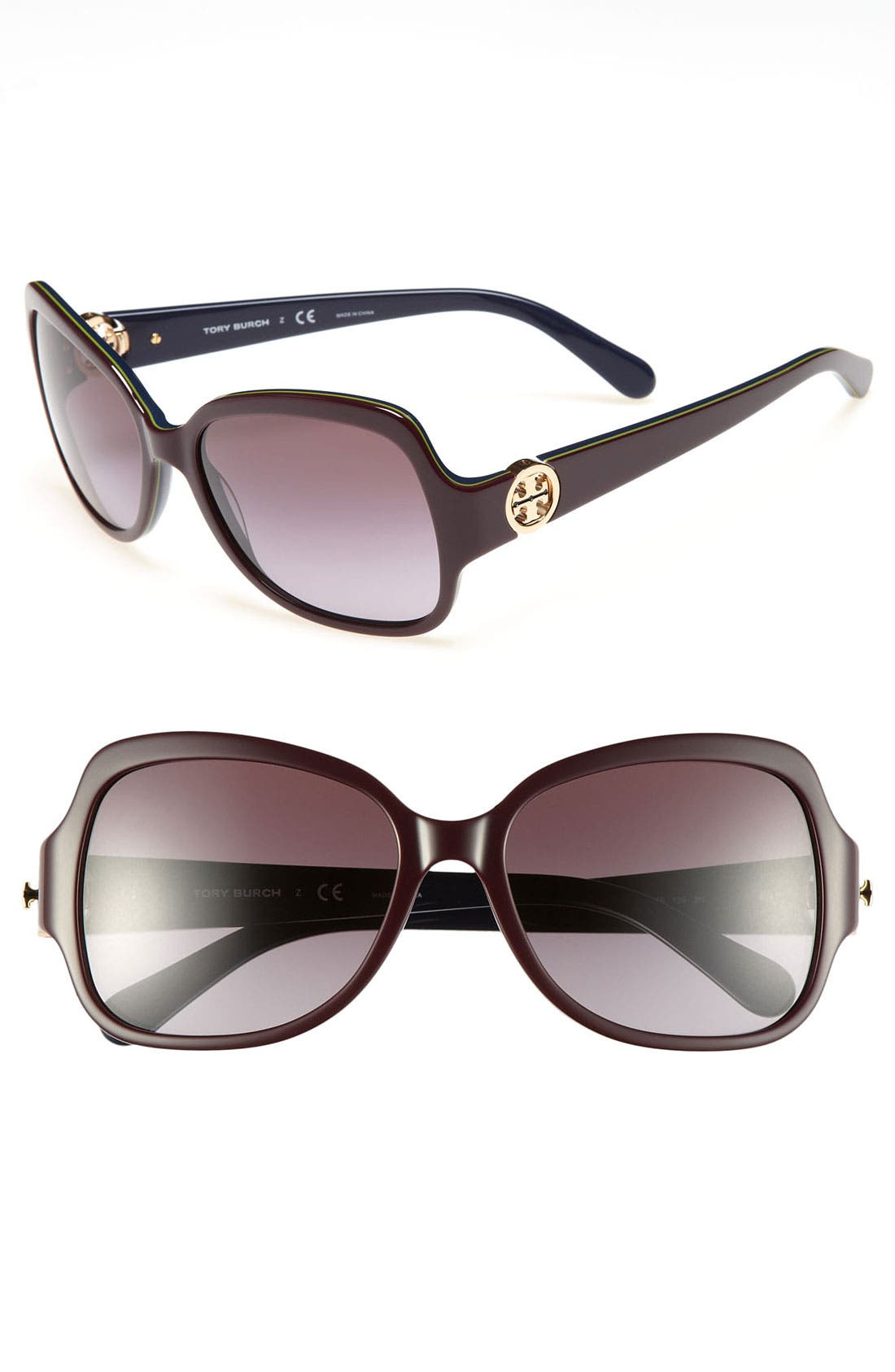 Alternate Image 1 Selected - Tory Burch 'So Glam' 57mm Sunglasses
