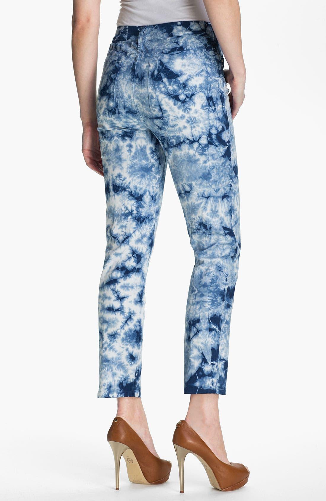 Alternate Image 2  - NYDJ 'Alisha' Print Twill Ankle Jeans (Petite)