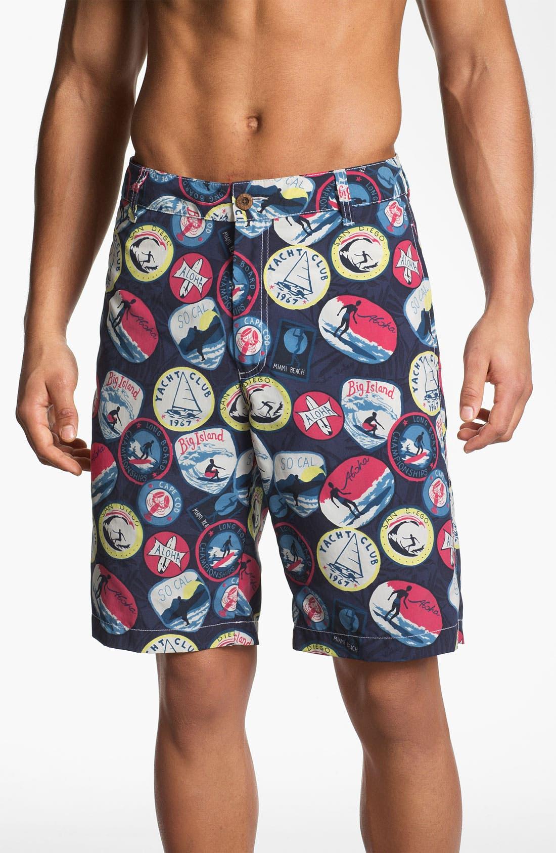 Alternate Image 1 Selected - Tailor Vintage Hybrid Board Shorts