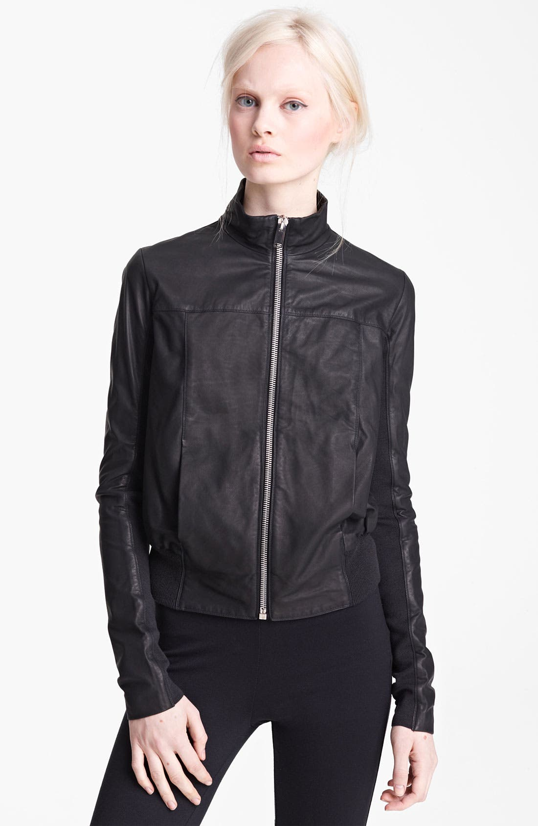 Alternate Image 1 Selected - Rick Owens Drape Back Bomber Jacket