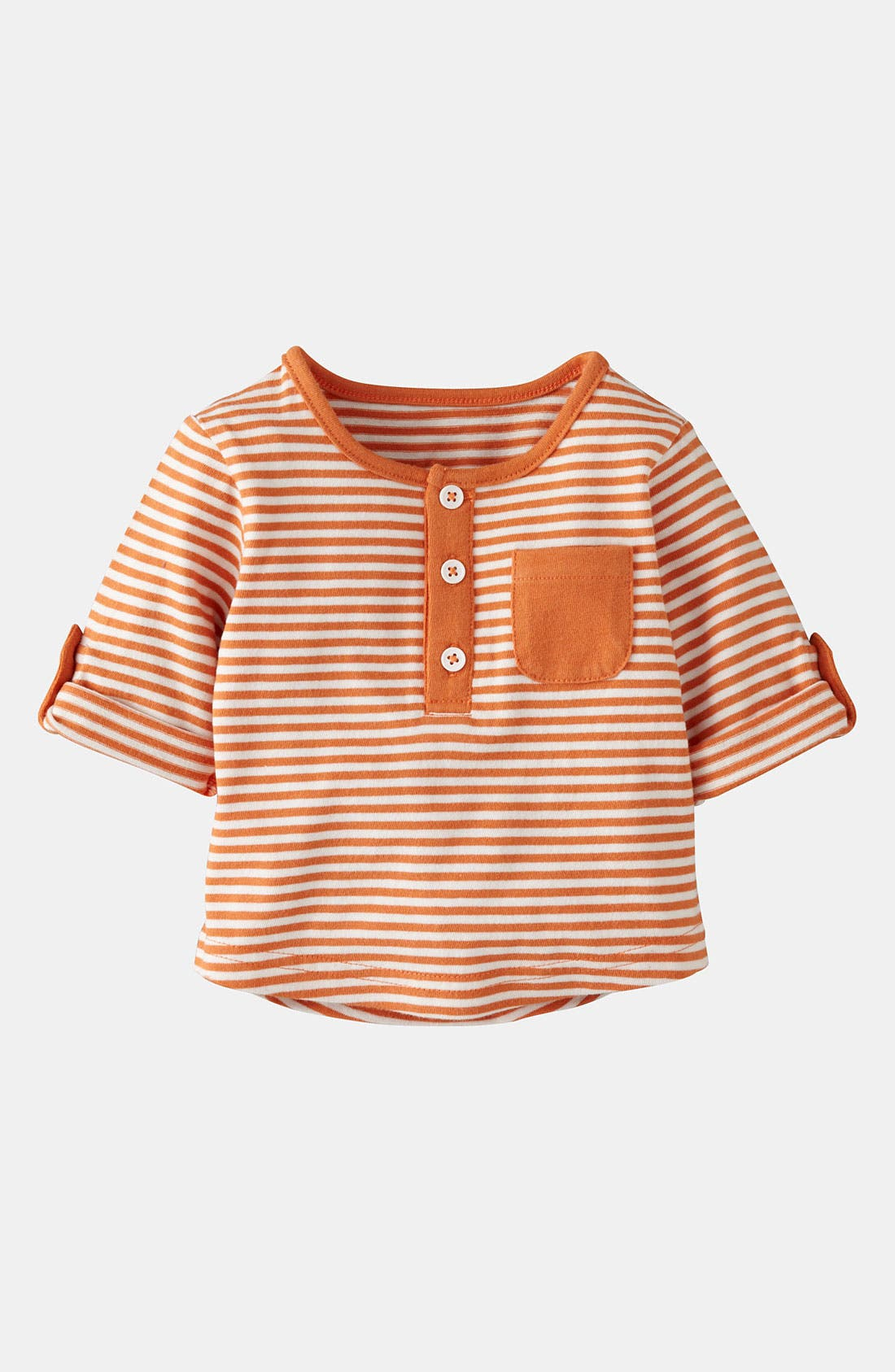 Alternate Image 1 Selected - Mini Boden Henley Shirt (Baby)