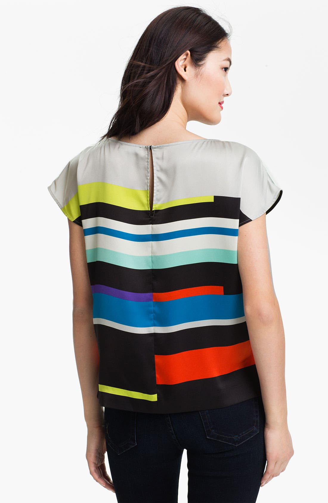 Alternate Image 2  - Vince Camuto 'Graphic Lines' Blouse (Petite)