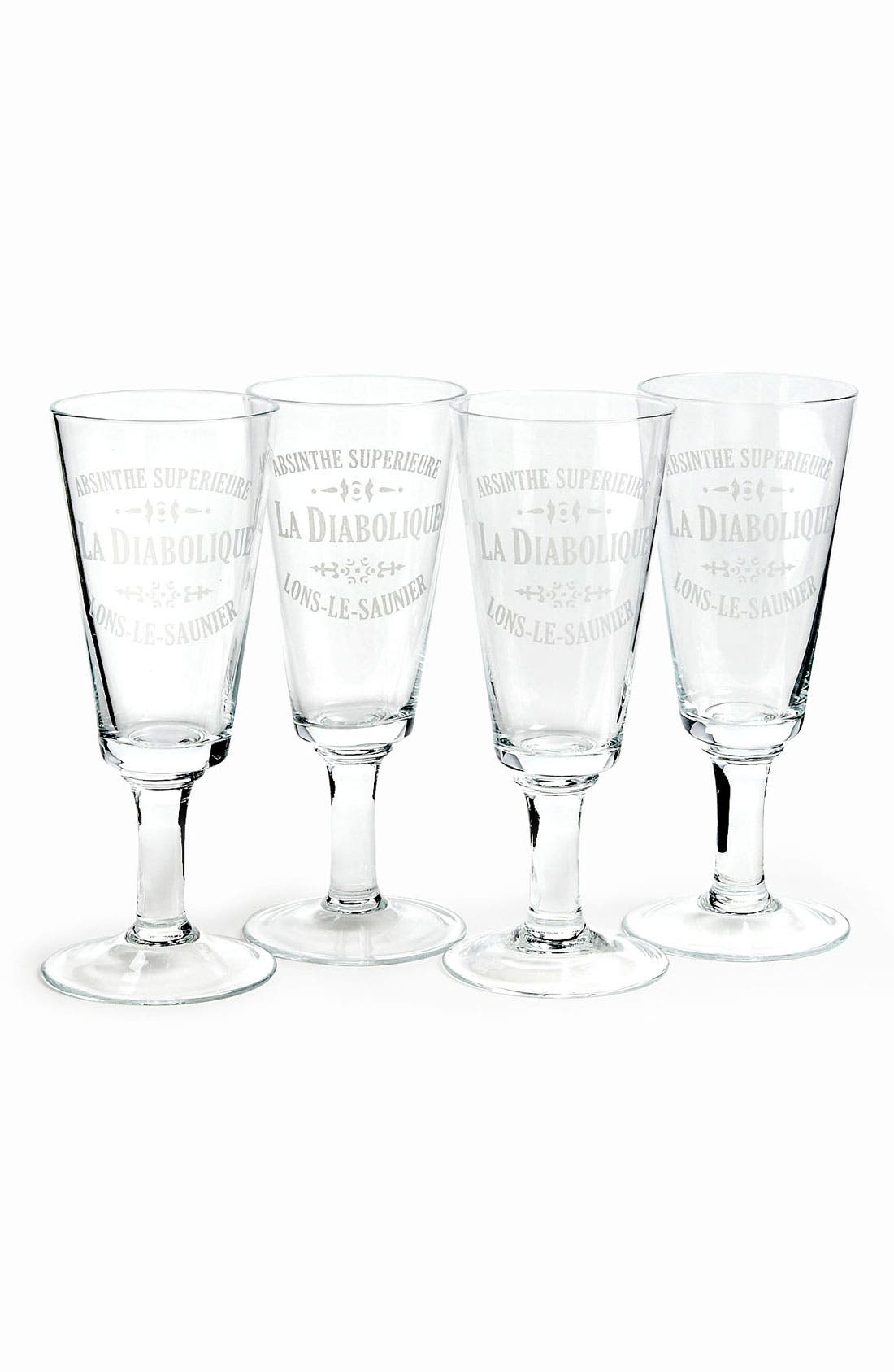 Alternate Image 1 Selected - 'La Diabolique' Absinthe Glasses (Set of 4)