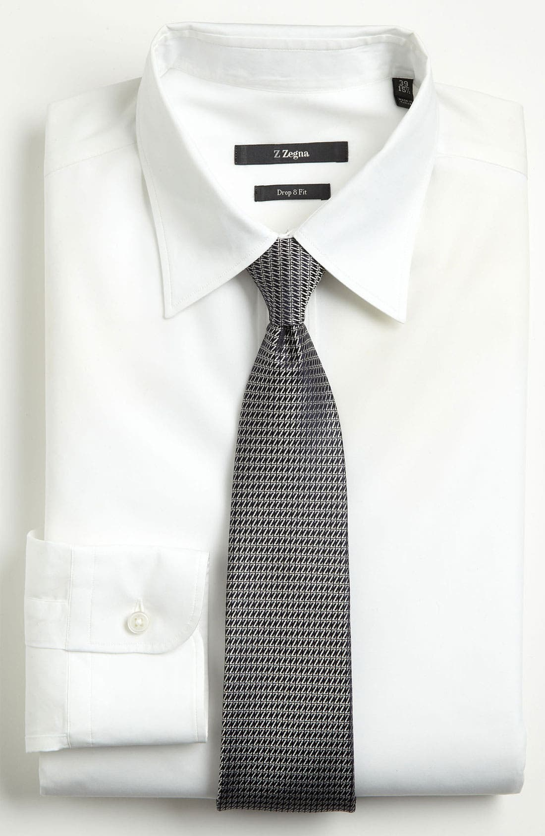 Alternate Image 2  - Z Zegna Z Pattern Woven Silk Tie