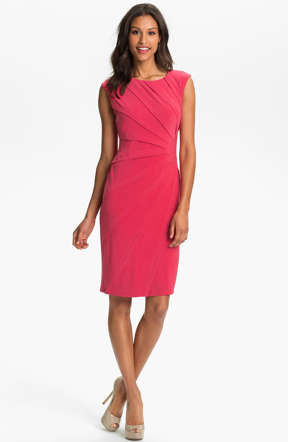 Alternate Image 1 Selected - Adrianna Papell Seamed Jersey Sheath Dress