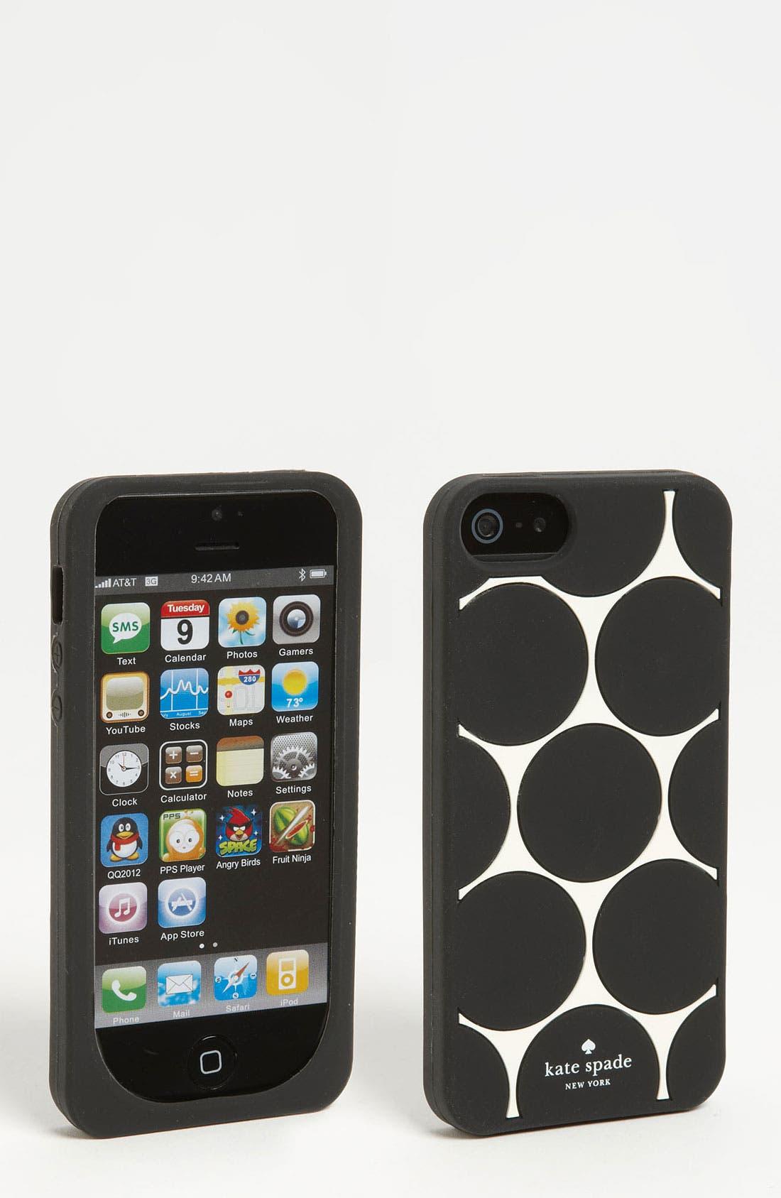 Main Image - kate spade new york 'deborah dot' iPhone 5 & 5S case
