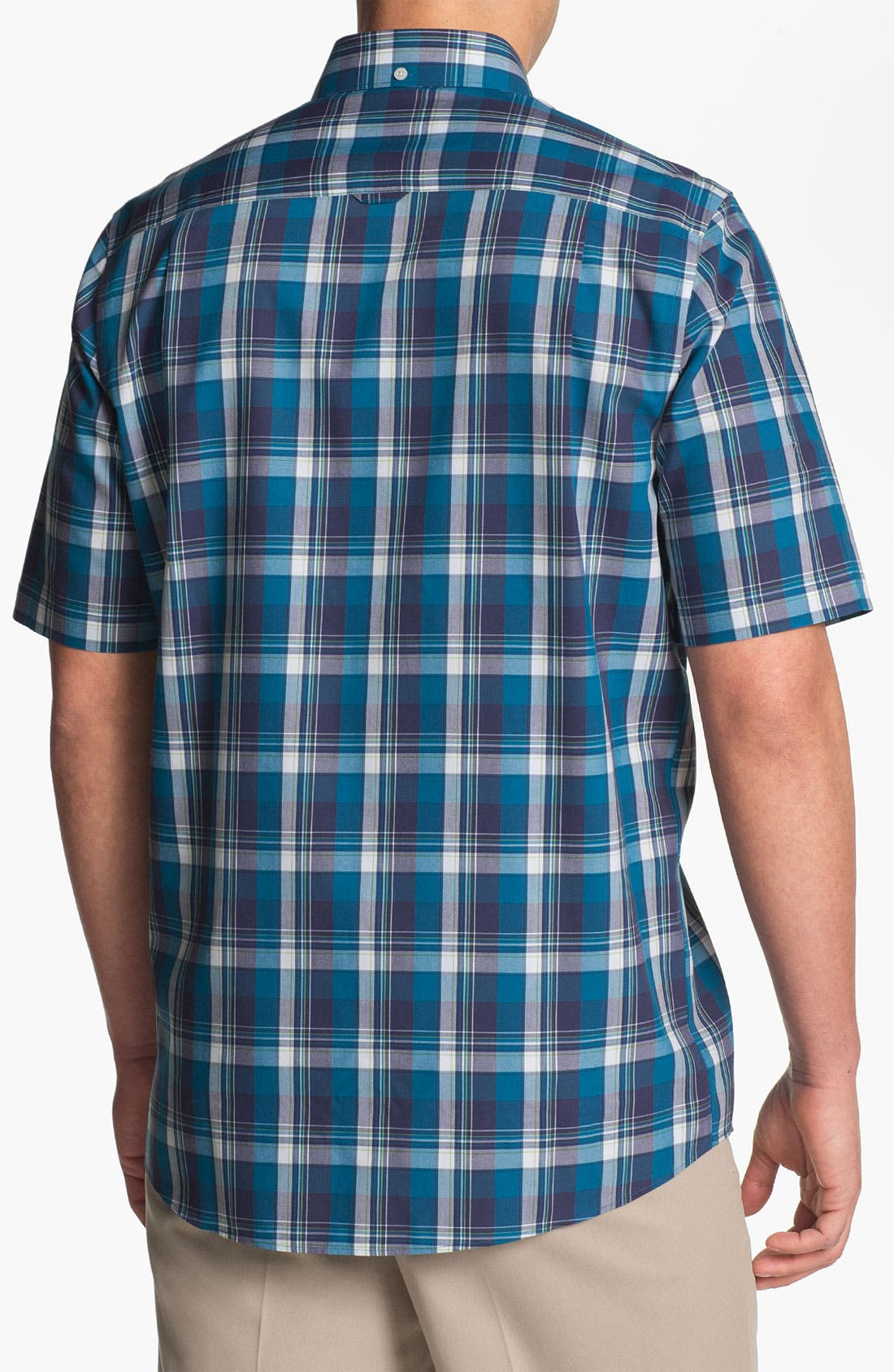 Alternate Image 2  - Nordstrom Smartcare™ Regular Fit Short Sleeve Sport Shirt
