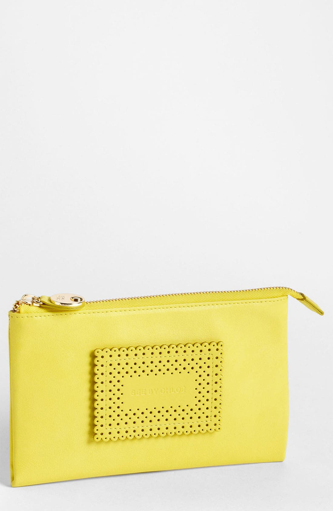 Alternate Image 1 Selected - See by Chloé Leather Clutch