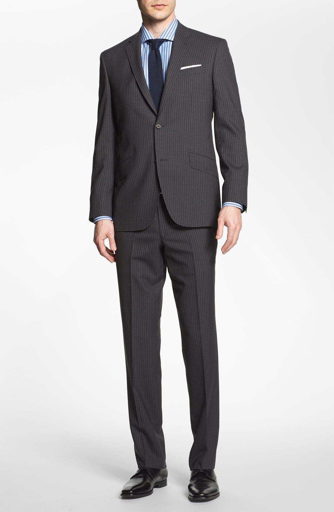Alternate Image 2  - Ted Baker London Trim Fit Stripe Suit
