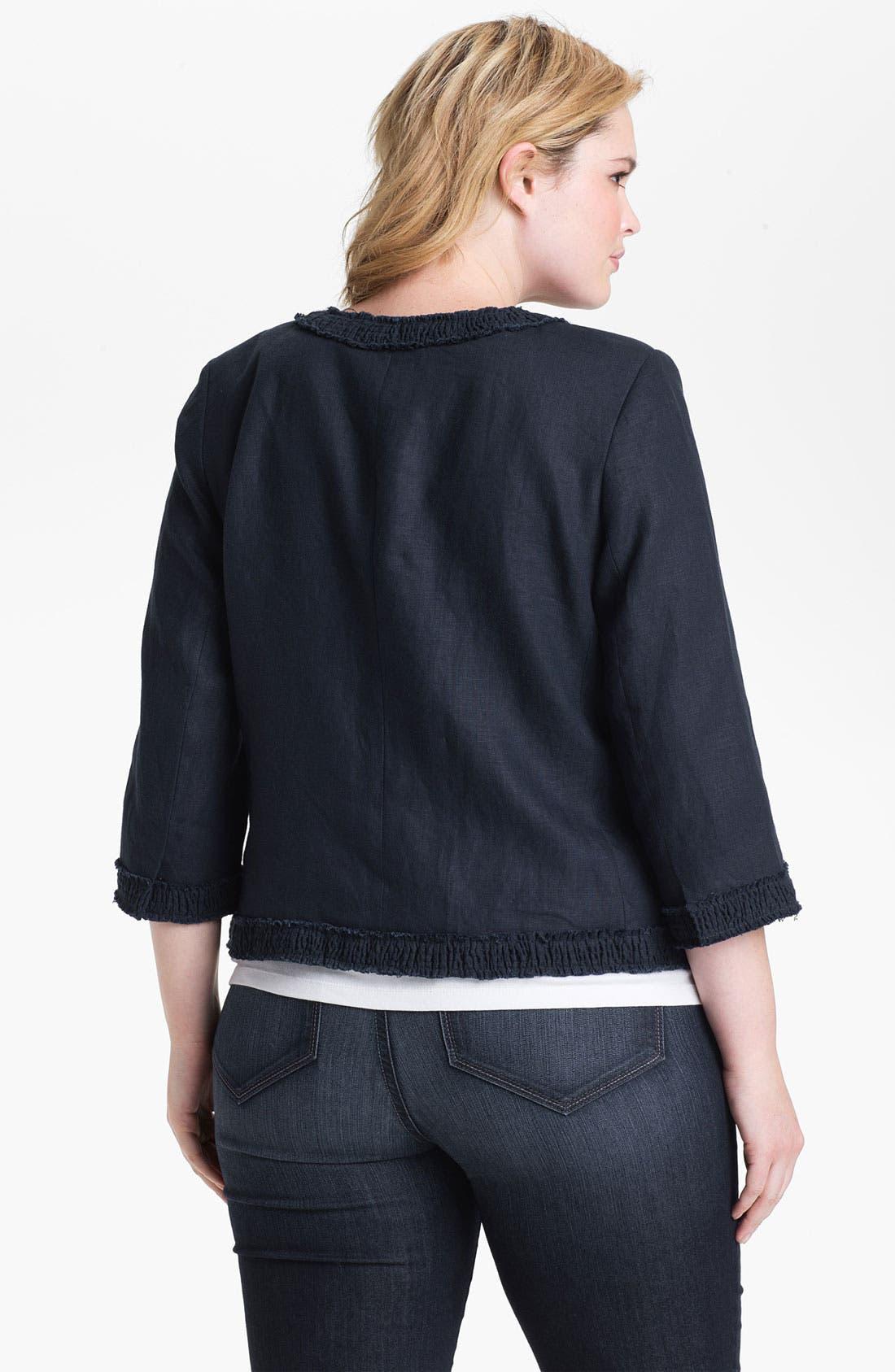 Alternate Image 2  - MICHAEL Michael Kors Linen Jacket (Plus)