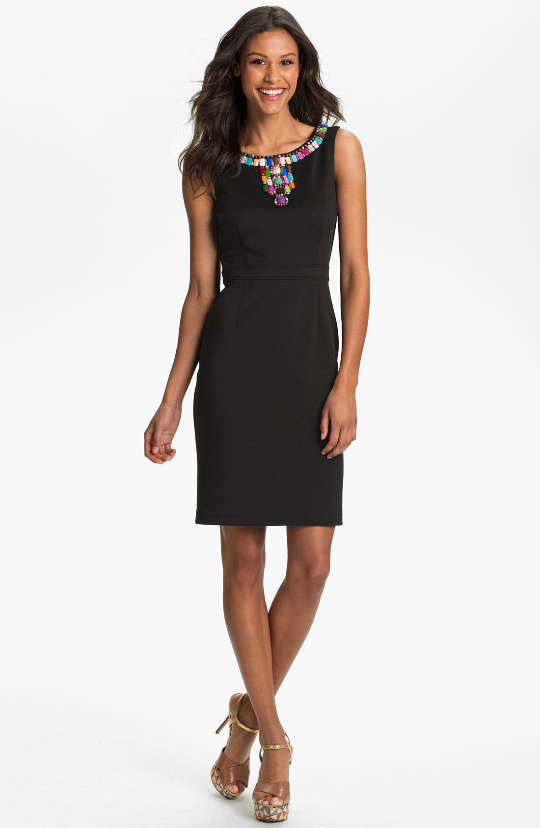 Alternate Image 1 Selected - Ellen Tracy Embellished Sheath Dress