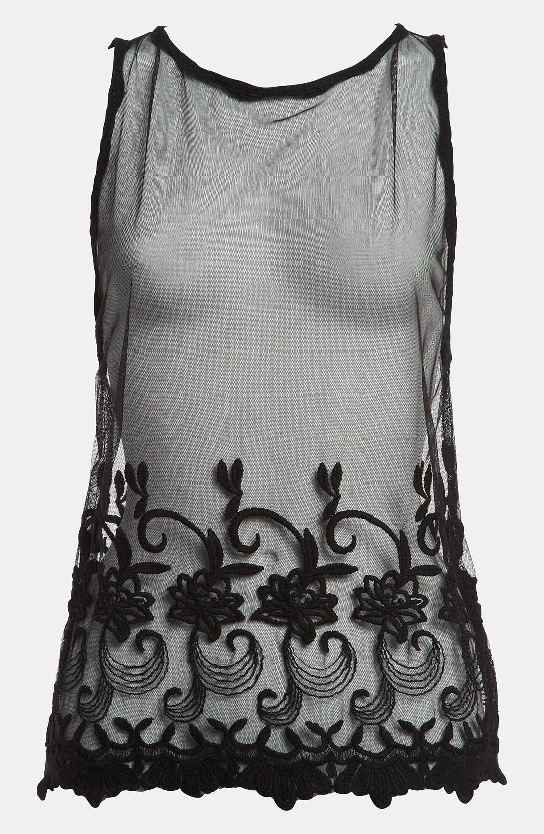 Alternate Image 1 Selected - Tildon Open Back Lace Top