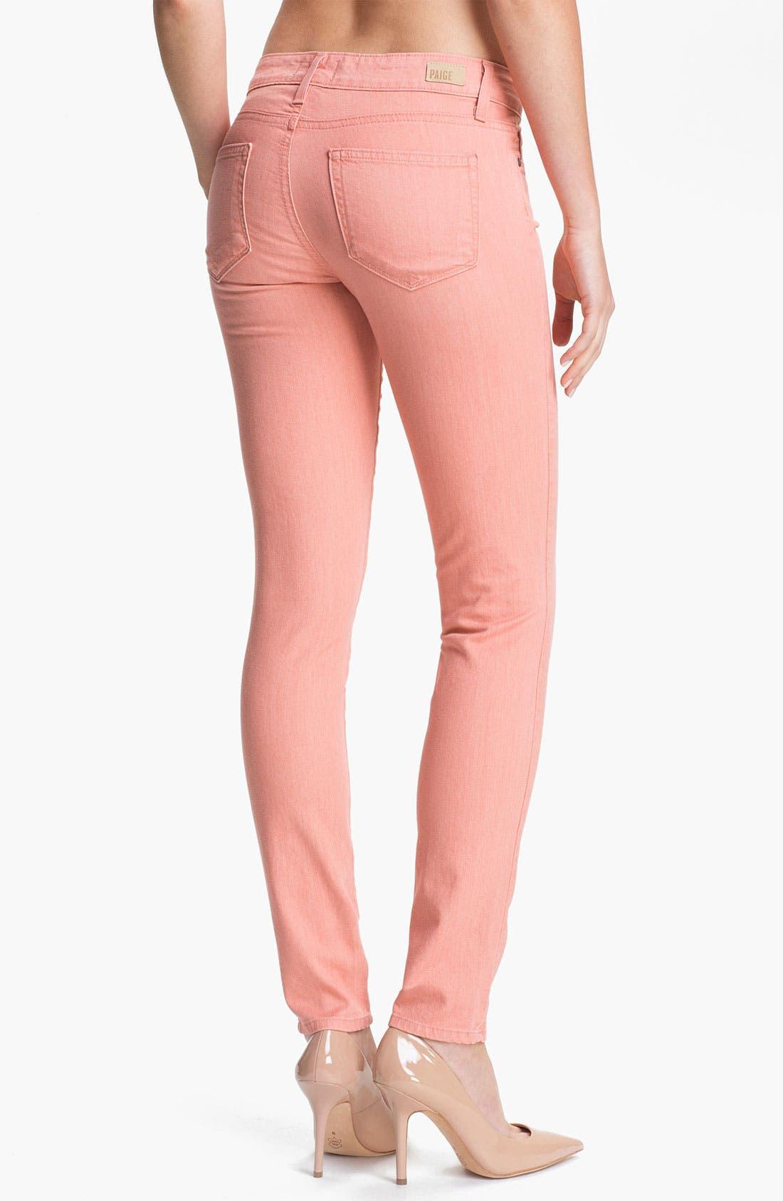 Alternate Image 2  - Paige Denim 'Verdugo' Skinny Stretch Jeans (Peach)