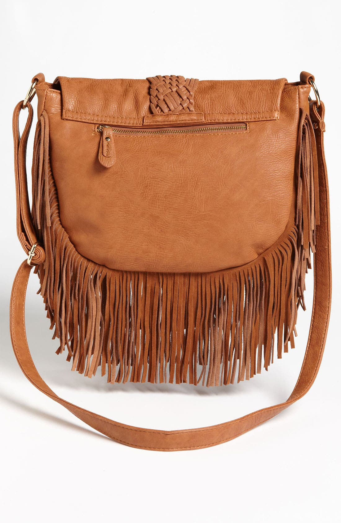 Alternate Image 4  - Street Level Woven Fringe Crossbody Bag