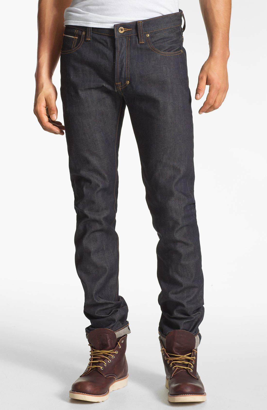 Alternate Image 2  - PRPS 'Rambler' Slim Fit Selvedge Jeans (Raw)