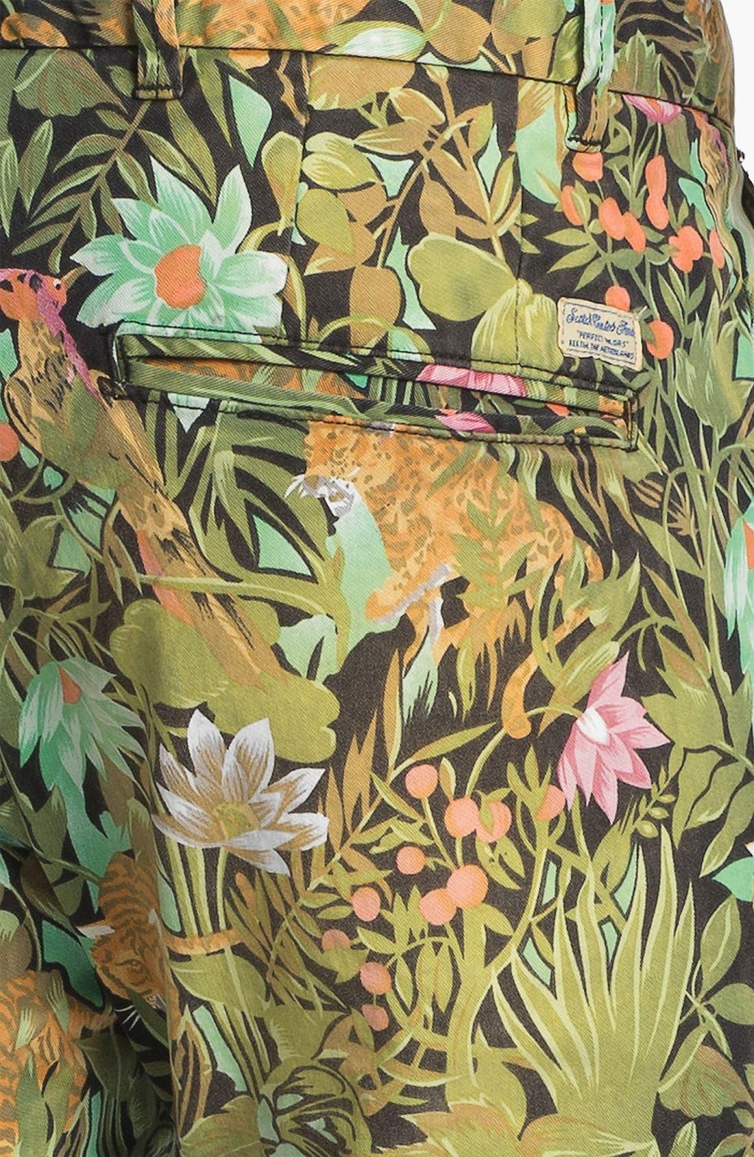 Alternate Image 3  - Scotch & Soda 'Bowie' Slim Straight Leg Floral Print Chinos