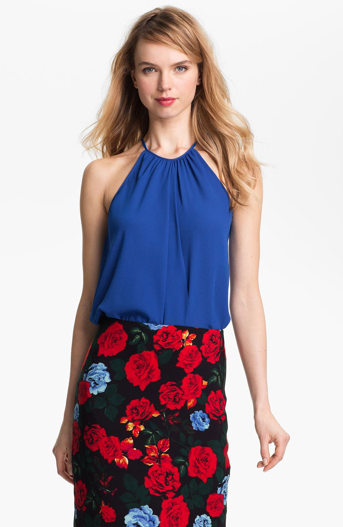 Alternate Image 1 Selected - Vince Camuto Draped Halter Blouse