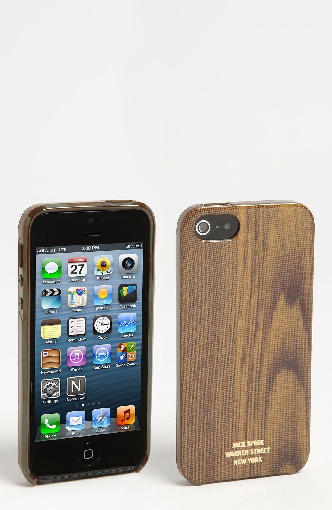 Alternate Image 1 Selected - Jack Spade 'Woody' iPhone 5 Case