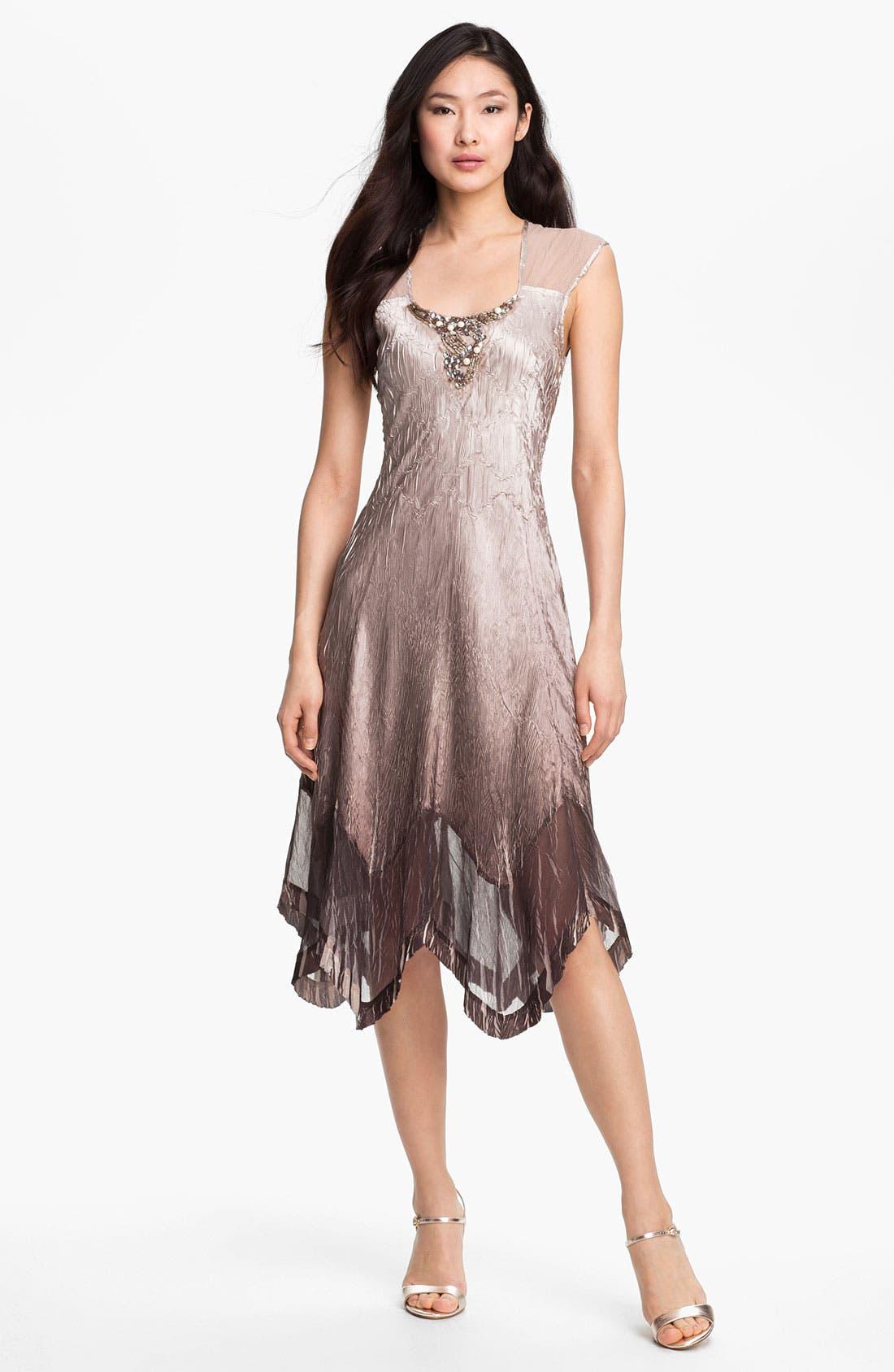 Alternate Image 2  - Komarov Embellished Charmeuse Dress & Jacket