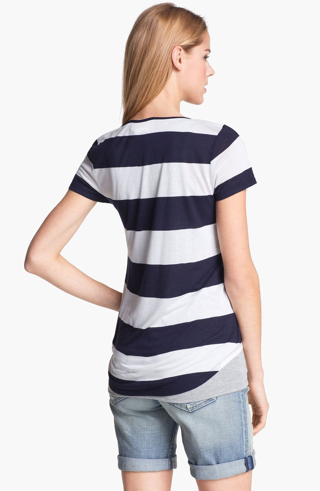 Alternate Image 2  - Two by Vince Camuto 'Cabana' Stripe Tee