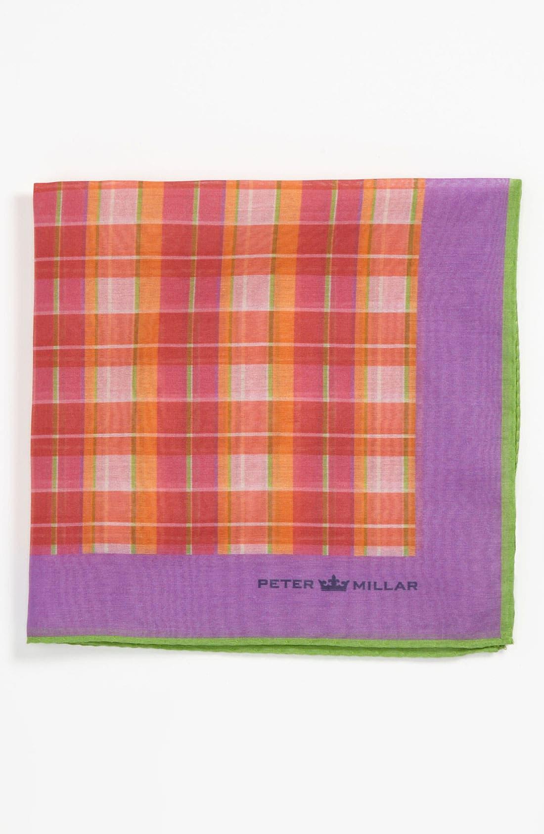 Main Image - Peter Millar Cotton & Silk Pocket Square