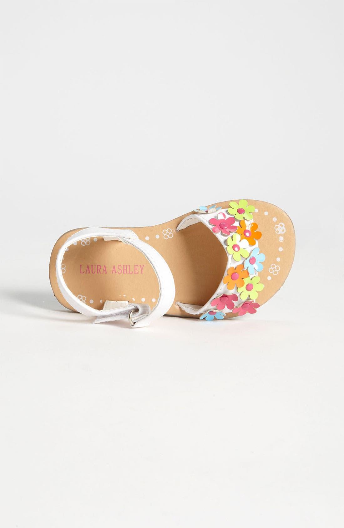 Alternate Image 3  - Laura Ashley Flower Sandal (Walker & Toddler)