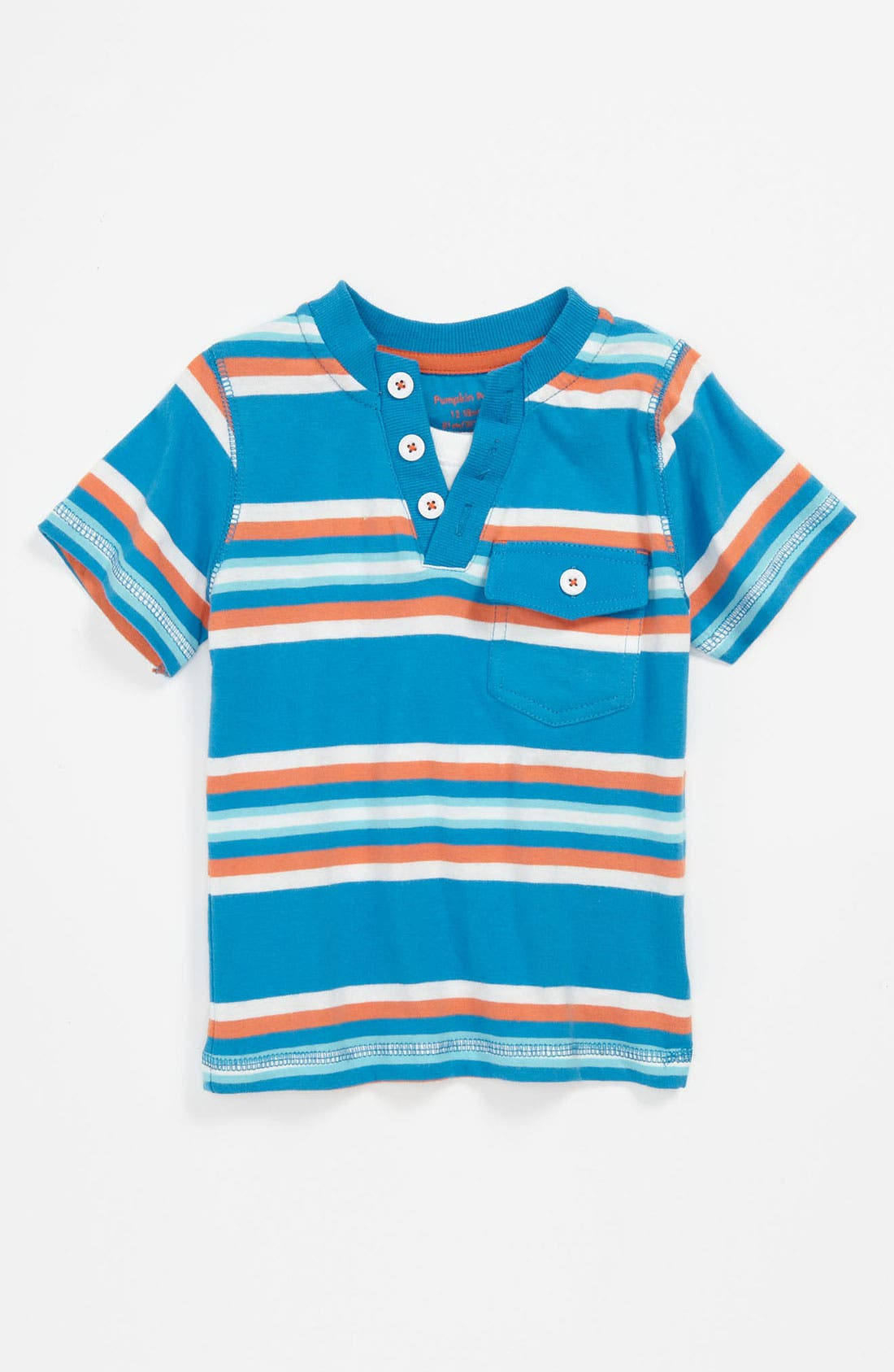 Alternate Image 1 Selected - Pumpkin Patch Stripe T-Shirt (Toddler)