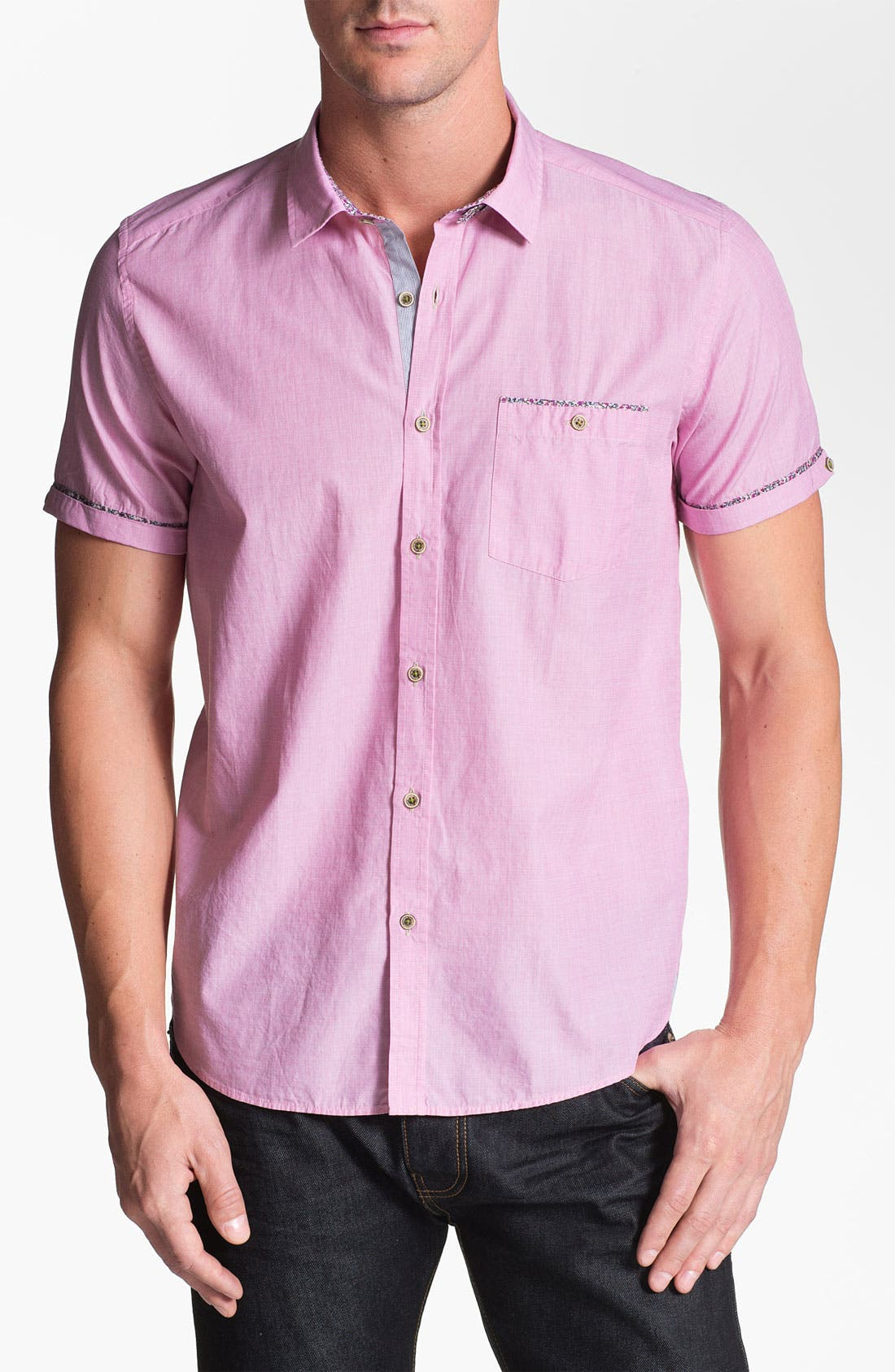 Alternate Image 1 Selected - Ted Baker London 'Pingty Pattern' Trim Fit Sport Shirt