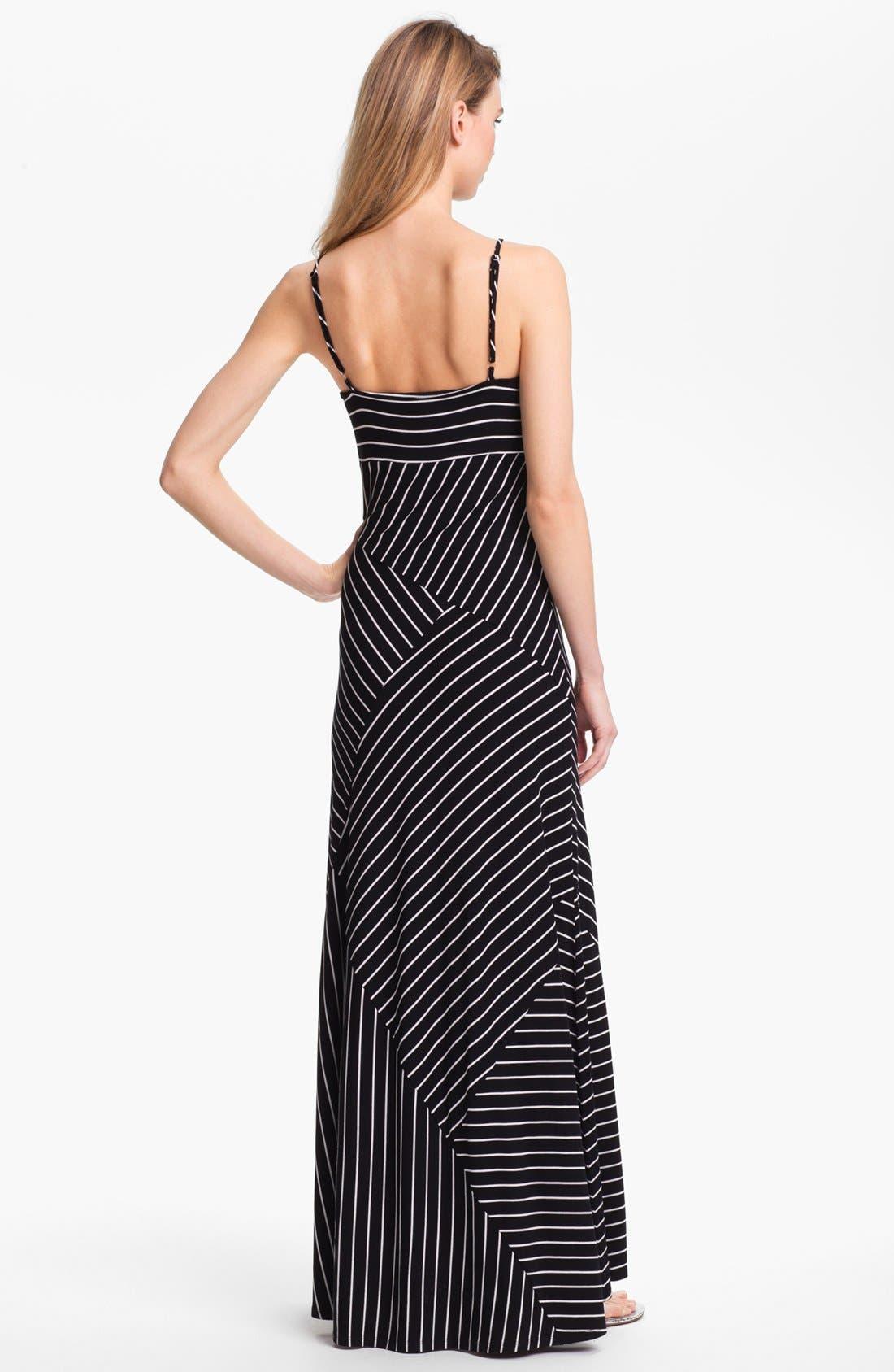 Alternate Image 2  - Vince Camuto Banded Stripe Maxi Dress